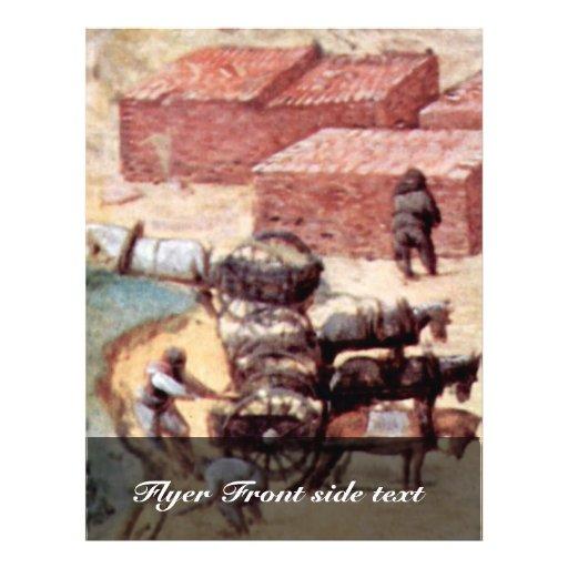 """Tower Of Babel, Detail By Bruegel D. Ä. Pieter 8.5"""" X 11"""" Flyer"""