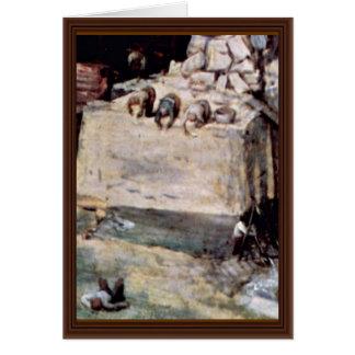 Tower Of Babel, Detail By Bruegel D. Ä. Pieter (Be Cards
