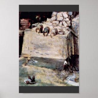 Tower Of Babel, Detail By Bruegel D. Ä. Pieter (Be Poster