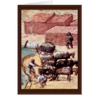 Tower Of Babel, Detail By Bruegel D. Ä. Pieter Greeting Cards