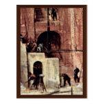 Tower Of Babel, Detail By Bruegel D. Ä. Pieter Post Cards