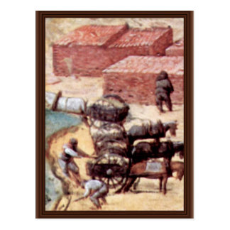 Tower Of Babel, Detail By Bruegel D. Ä. Pieter Postcard