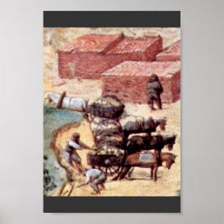 Tower Of Babel, Detail By Bruegel D. Ä. Pieter Poster