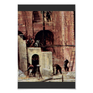 Tower Of Babel, Detail By Bruegel D. Ä. Pieter Print