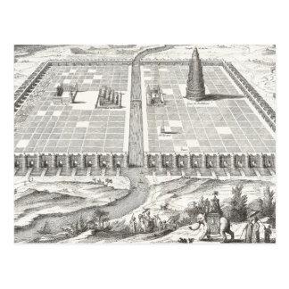 Tower of Babel, Hanging Gardens of Babylon Vintage Postcard