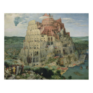 Tower of Babel Wood Wall Art