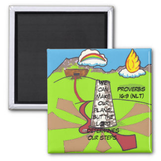Tower of Babel 2 Inch Square Magnet