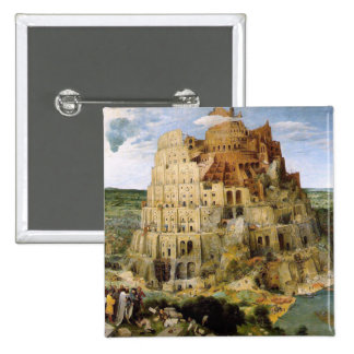Tower of Babel - Peter Bruegel 2 Inch Square Button