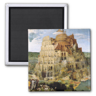 Tower of Babel - Peter Bruegel 2 Inch Square Magnet
