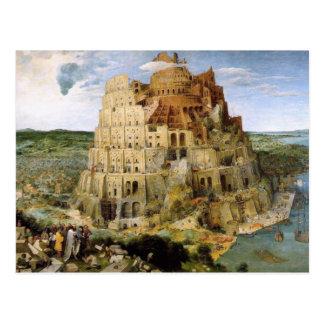 Tower of Babel - Peter Bruegel Post Card