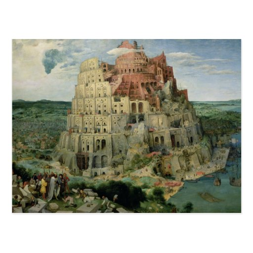 Tower of Babel Postcard