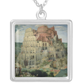 Tower of Babel Silver Plated Necklace