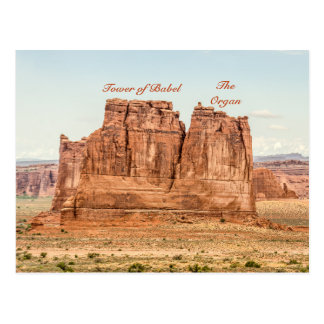 Tower of Babel, The Organ in Arches National Park Postcard
