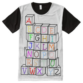 Tower of Blocks all over/Baby 4 Life/ Adult Baby All-Over-Print T-Shirt