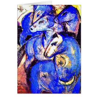 Tower of Blue Horses by Franz Marc Card