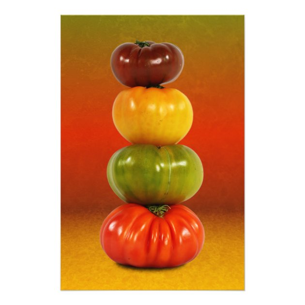 Studio Dalio - Tower of Colorful Heirloom Tomatoes Photo Print
