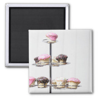 Tower of cupcakes or patty cakes magnet
