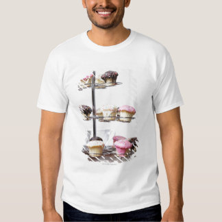 Tower of cupcakes or patty cakes t shirt