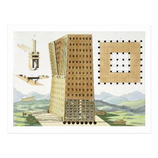 Tower of Demetrius Poliorcetes (336-283 BC) during Postcard