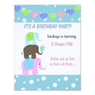 Tower of Elephants Birthday Invitation