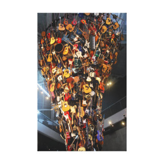 Tower of Guitars in the Seattle Art Museum Canvas Print