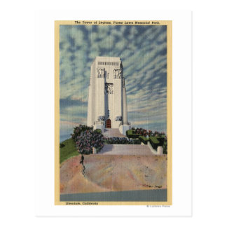 Tower of Legions, Forest Lawn Memorial Park Postcard