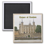 Tower of London 2 Inch Square Magnet