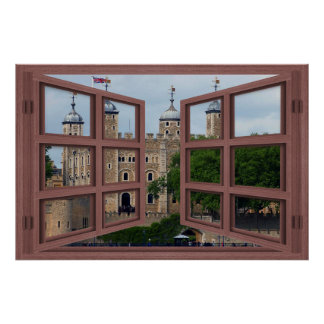 Tower Of London 6 Pane Open Window Poster