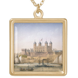 Tower of London, c.1862 (colour litho) Gold Plated Necklace