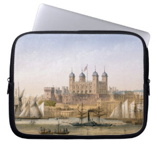 Tower of London, c.1862 (colour litho) Laptop Sleeve