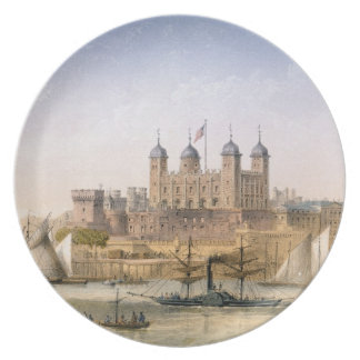 Tower of London, c.1862 (colour litho) Plate