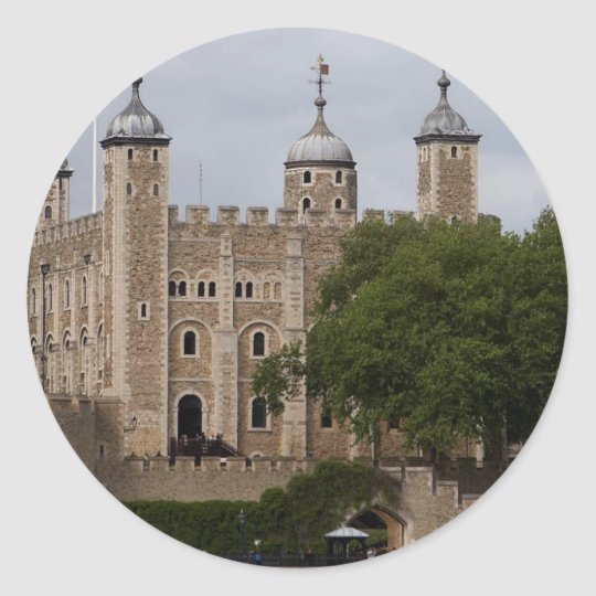 Tower Of London England Seen From Across The River Classic Round Sticker