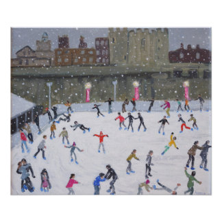 Tower of London Ice Rink 2015 Poster