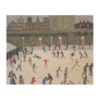 Tower of London Ice Rink 2015 Wood Wall Art