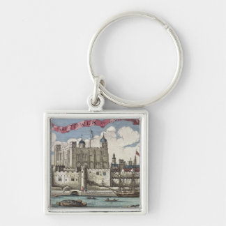 Tower of London Seen from the River Thames Keychain