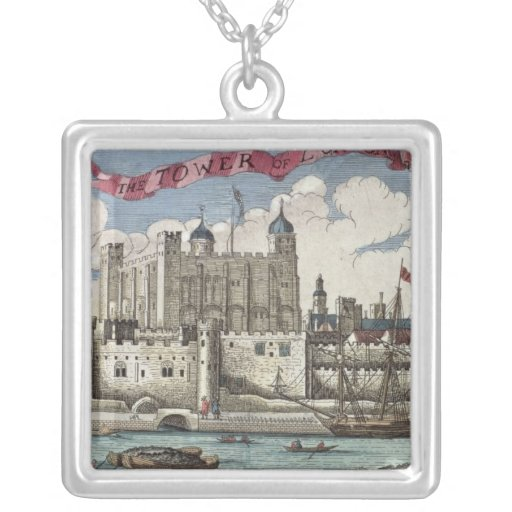 Tower of London Seen from the River Thames Personalized Necklace