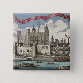 Tower of London Seen from the River Thames Pinback Button