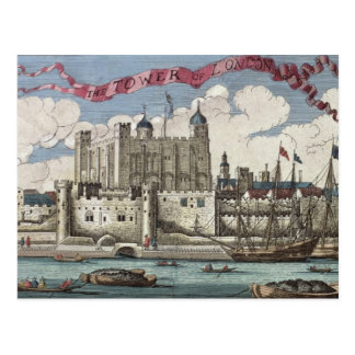 Tower of London Seen from the River Thames Post Cards