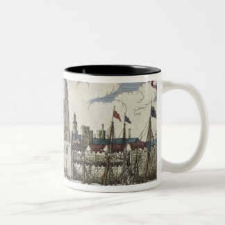Tower of London Seen from the River Thames Two-Tone Coffee Mug