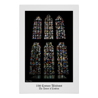 Tower of London Windows Poster