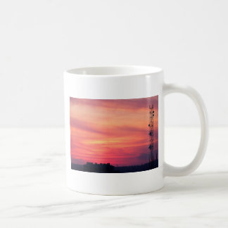 Tower of mobile communication antennas coffee mug