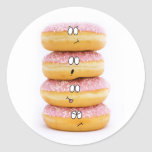 tower of pink doughnut characters sticker