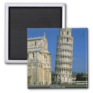 Tower of Pisa, Italy 2 Inch Square Magnet