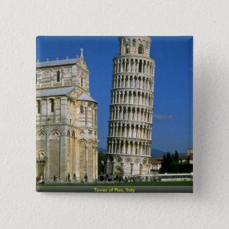 Tower of Pisa, Italy Button