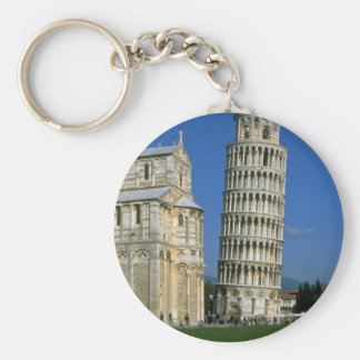 Tower of Pisa, Italy Basic Round Button Keychain