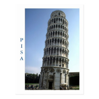 """Tower of Pisa, Italy"" postcard"
