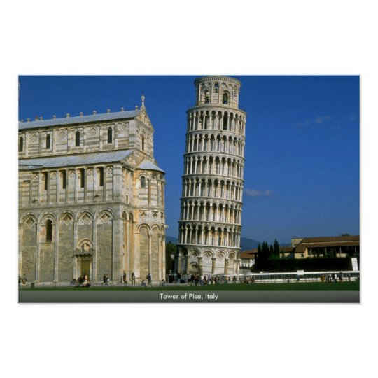 Tower of Pisa, Italy Poster