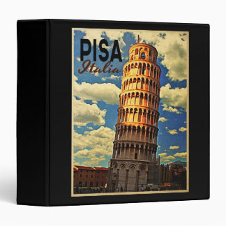 Tower Of Pisa ltaly 3 Ring Binders