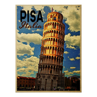 Tower Of Pisa ltaly Poster