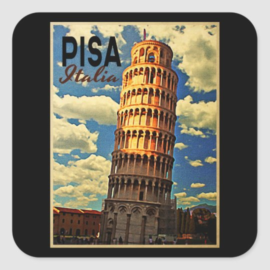 Tower Of Pisa ltaly Square Sticker